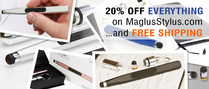 Free shipping, plus 20% off on maglusstylus.com